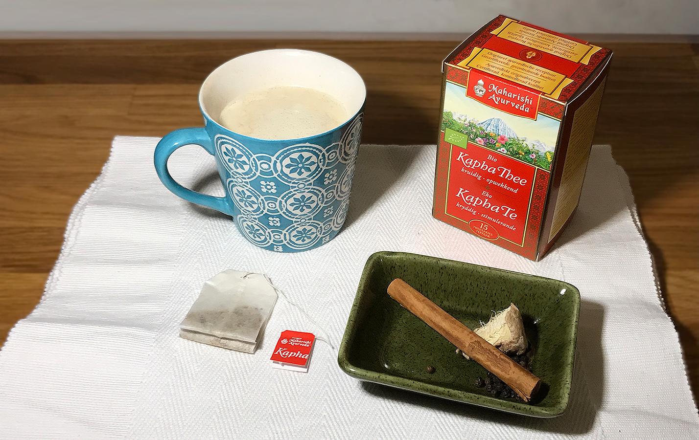 Kapha chai te är uppiggande